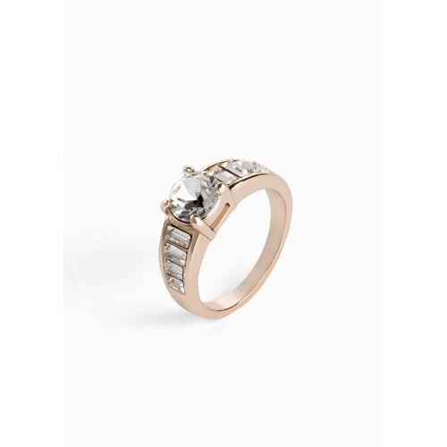 bonprix Ring veredelt mit Kristallsteinen gold