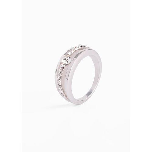 bonprix Ring veredelt mit Kristallsteinen silber