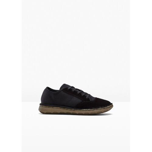 bonprix Sneaker mit Lederanteil schwarz