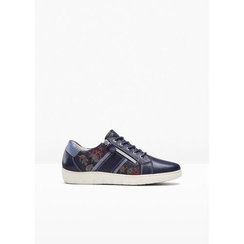 bonprix bequemer Sneaker aus Leder blau