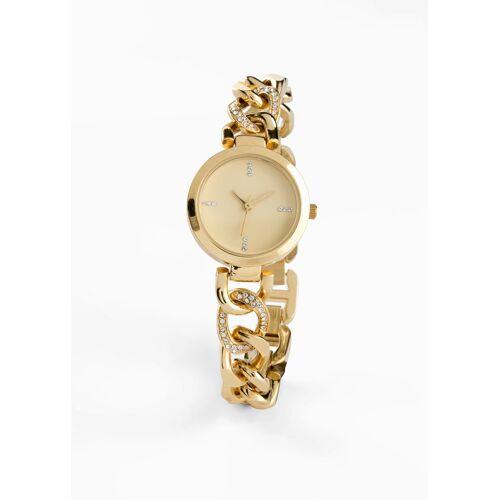 bonprix Armbanduhr mit Swarovski® Kristallen gold