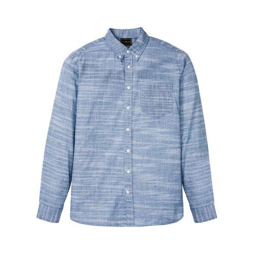 bonprix Hemd mit Buttondownkragen blau