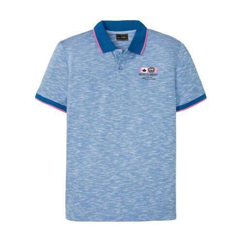 bonprix Poloshirt, Kurzarm blau
