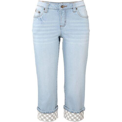 bonprix Capri-Jeans blau