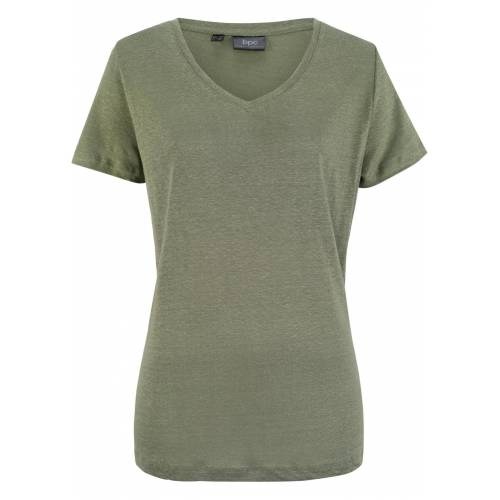 bonprix Lockeres Shirt aus 100% Leinen grün
