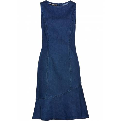 bonprix Bequemes Jeanskleid blau