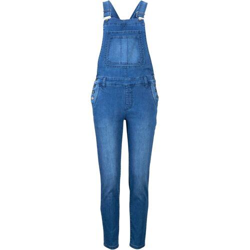 bonprix Jeans-Latzhose mit recycelten Polyester, knöchelfrei blau