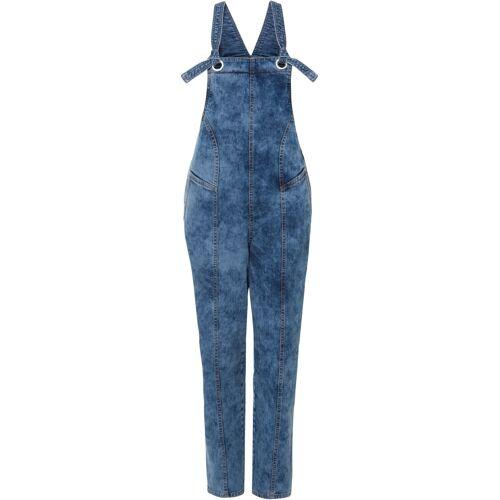 bonprix Jeans-Latzhose mit Teilungsnähten aus Bio-Baumwolle blau