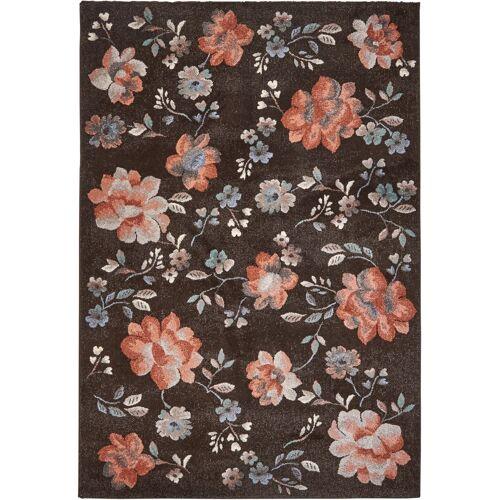 bonprix Teppich mit Blumen braun