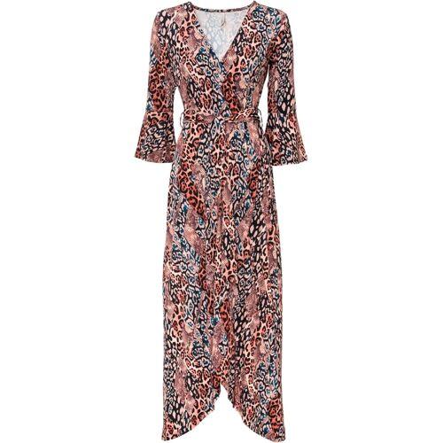 bonprix Vokuhila-Kleid mit Print braun