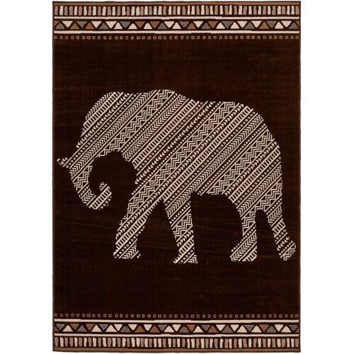 bonprix Teppich mit Elefantenmotiv braun