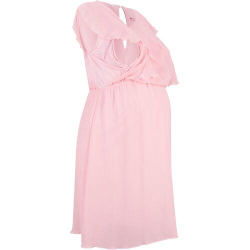 bonprix Jersey-Umstandskleid/Stillkleid mit Chiffon rosa