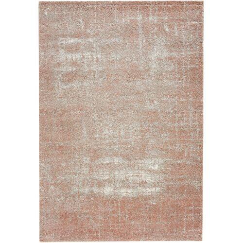 bonprix Teppich mit Struktur in zarten Farben rosa