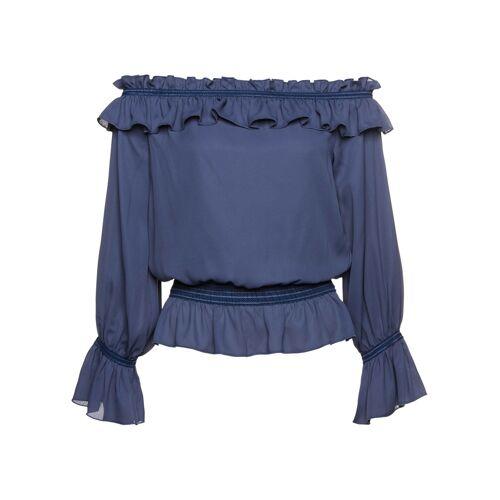 bonprix Carmenbluse umweltfreundlich gefärbt mit CleanDye blau