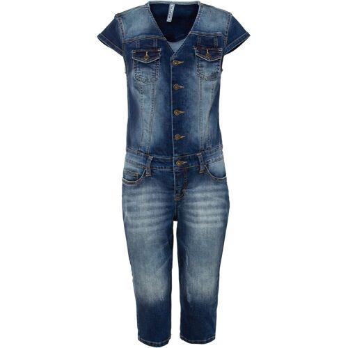 bonprix Jeans-Jumpsuit blau