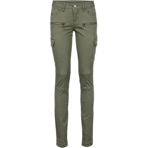 bonprix Cargohose Skinny grün