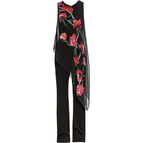 bonprix Jumpsuit mit Chiffon schwarz