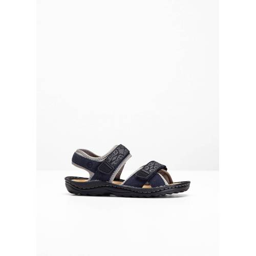 bonprix Trekking Sandale mit Lederanteil blau