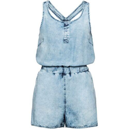 bonprix Jeans-Jumpsuit sommerlich aus TENCEL™Lyocell blau