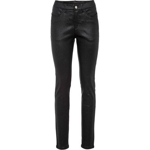 bonprix Streifen-Jeans, Glitzer schwarz