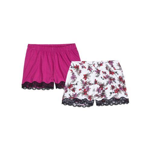 bonprix Schlaf Shorts (2er Pack) weiß