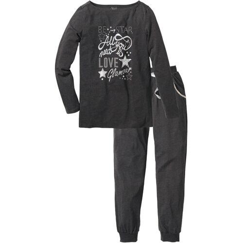 bonprix Pyjama grau