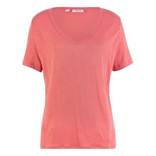 bonprix Lockeres Shirt aus 100% Leinen rosa