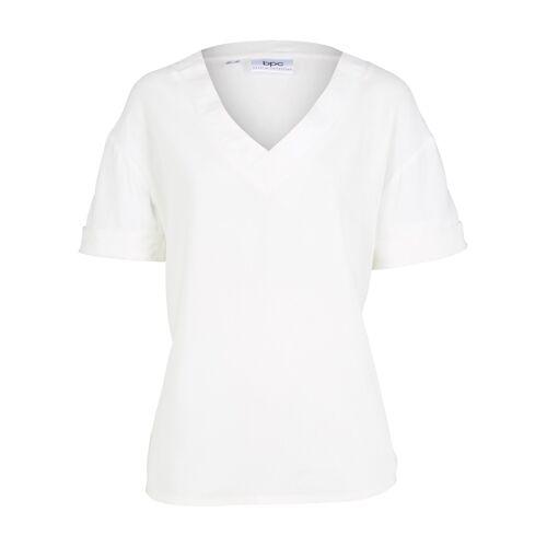 bonprix Bluse aus Viskose weiß