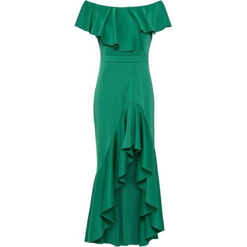 bonprix Vokuhila-Kleid mit Volant grün
