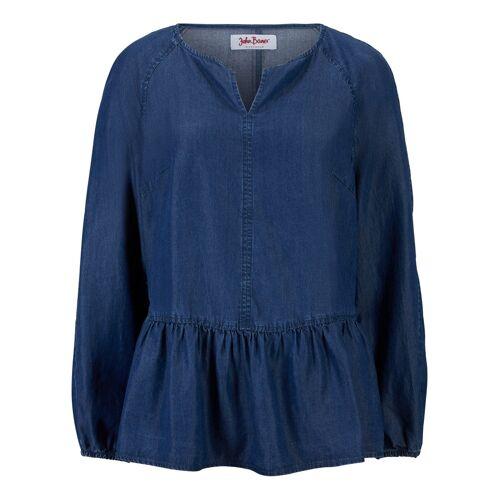 bonprix Jeansbluse aus TENCEL™ Lyocell blau