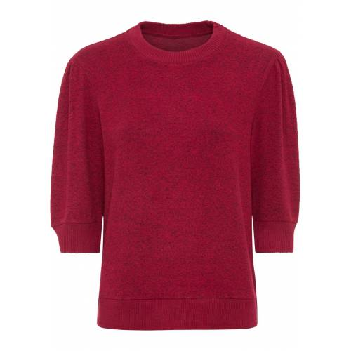 bonprix Tolles Kuschel-Sweatshirt mit 3/4-Arm. rot