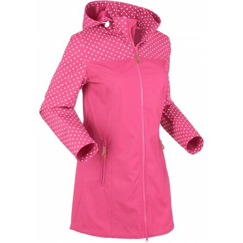 bonprix Bedruckte Softshelljacke pink