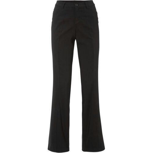 bonprix Stretch-Hose mit Schlag schwarz