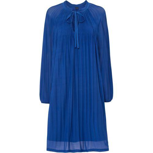 bonprix Plissée-Kleid blau