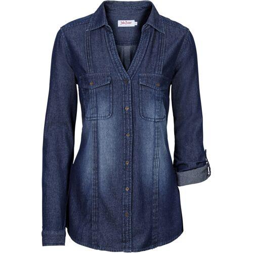 bonprix Jeansbluse blau