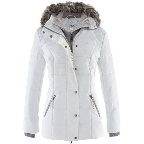 bonprix Winterjacke in 2-in1 Optik weiß