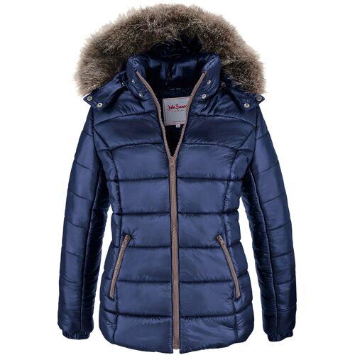bonprix Winterjacke mit Kapuze blau