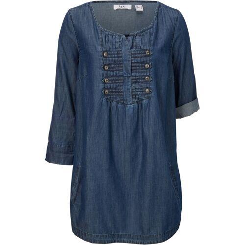 bonprix Halbarm-Bluse blau