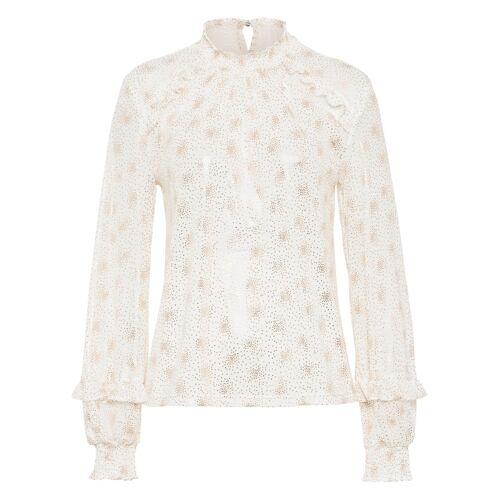 bonprix Mesh-Shirt, Folienprint weiß