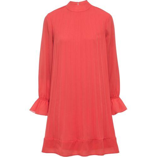 bonprix Plissée-Kleid rot