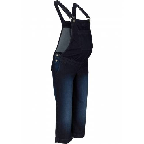 bonprix Umstands-Jeanslatzhose blau