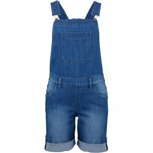 bonprix Komfort-Stretch-Jeans, Latzhose blau