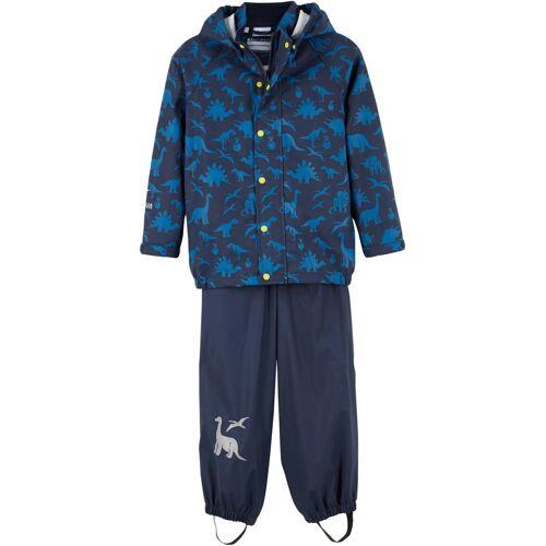 bonprix Jungen Regenjacke + Regenhose (2-tlg. Set) blau