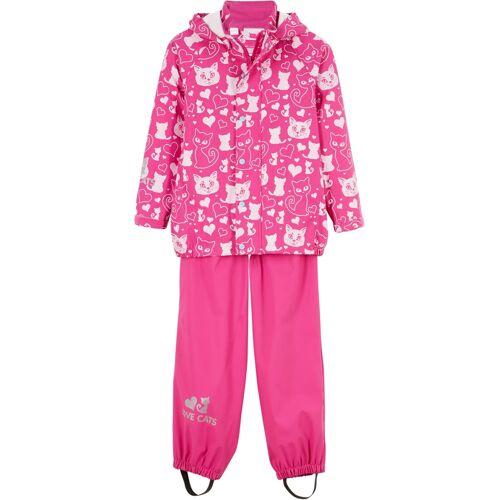 bonprix Mädchen Regenjacke + Regenhose (2-tlg. Set) pink
