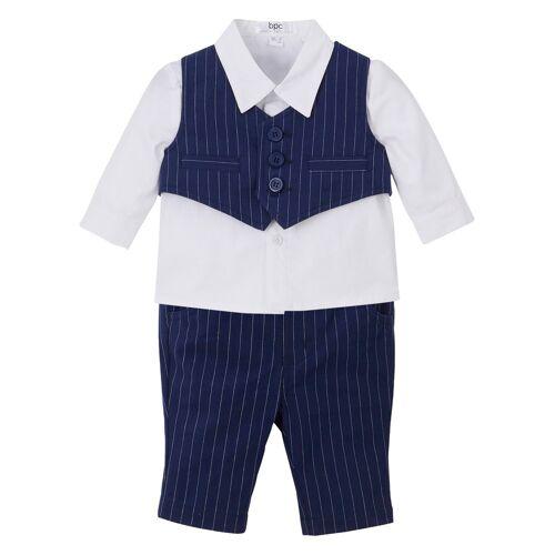 bonprix Baby Hemd + Weste + Hose (3-tlg.Set) blau