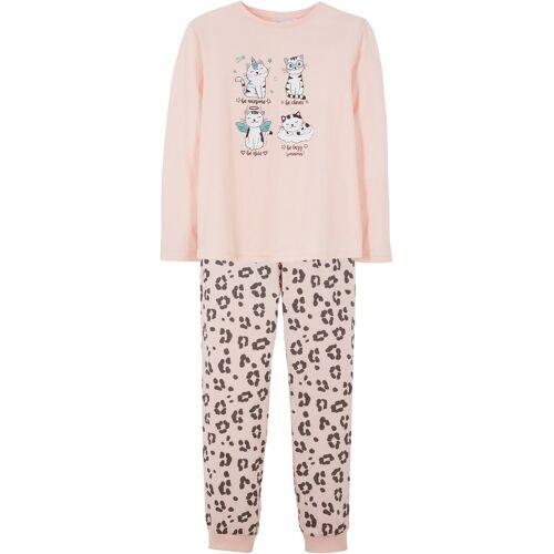 bonprix Mädchen Pyjama (2-tlg. Set) rosa