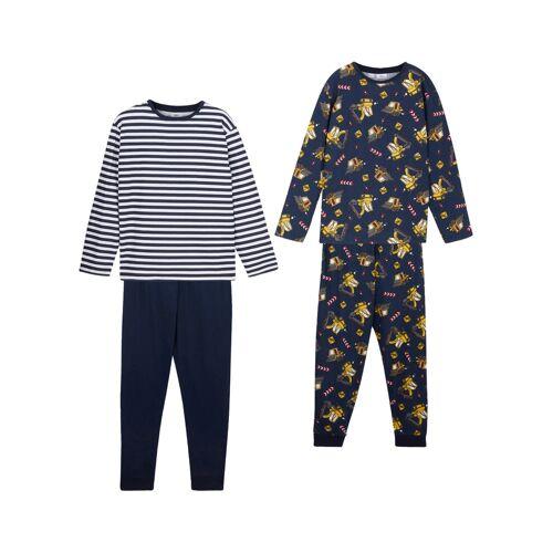 bonprix Junge Pyjama (2er-Pack) blau
