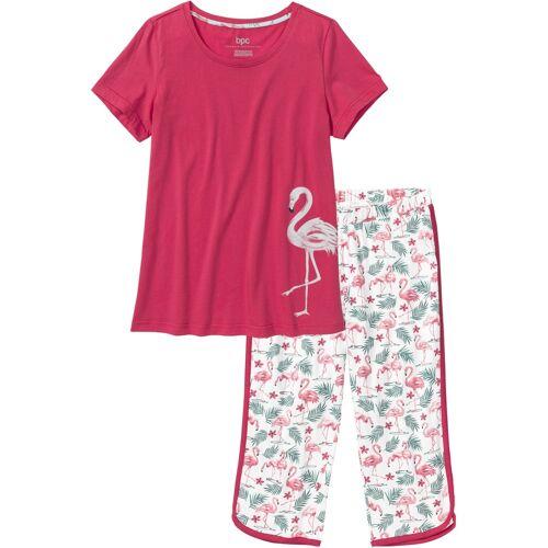 bonprix Capri Pyjama rot
