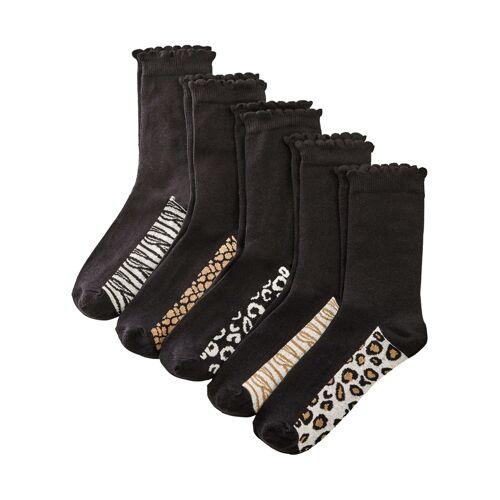 bonprix Socken (5er Pack) mit Bio-Baumwolle schwarz