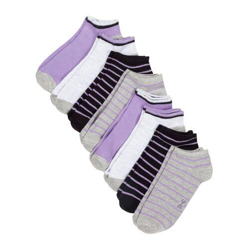 bonprix Sneaker Socken (8er Pack) mit Bio-Baumwolle lila